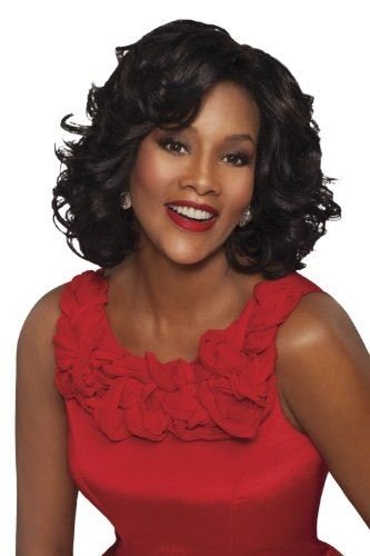 LEONA-V, Vivica Fox Lace Front Wig, Color #2 Dark Brown -