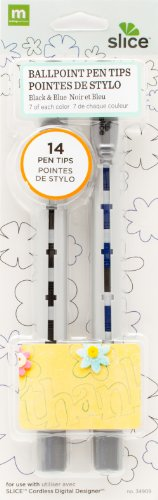 Slice Drawing Tips - MAKING MEMORIES Slice Ball Point Pen Tips, Black/Blue