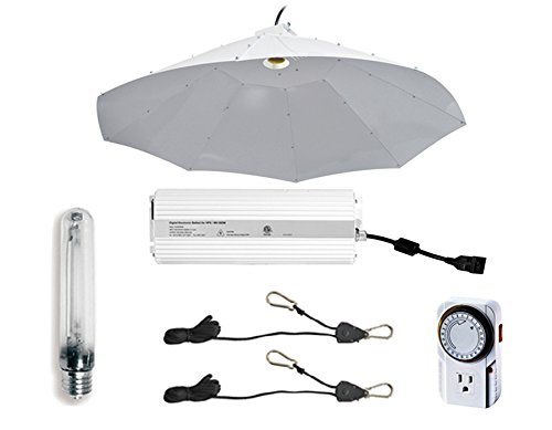 t Grow Light Digital Dimmable HPS System for Plants with Parabolic Vertical Reflector Hood, 42