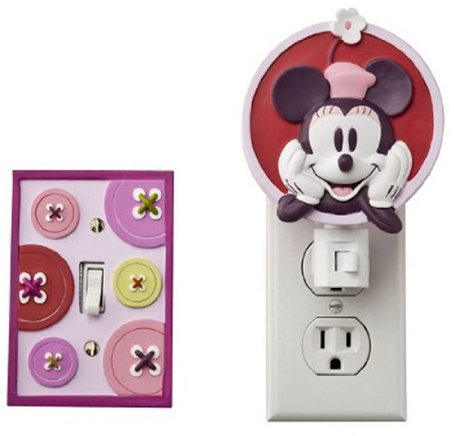 - Disney Mod Minnie Mouse Night Light & Switchplate Cover