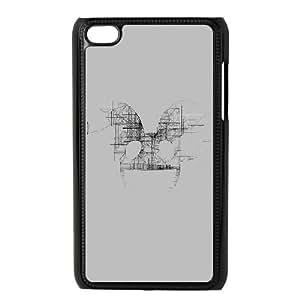 iPod Touch 4 Case Black Deadmau White Logo Art Music Obuyw