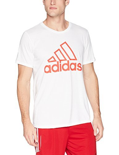adidas Athletics Badge of Sport Stitch Tee, White, Medium