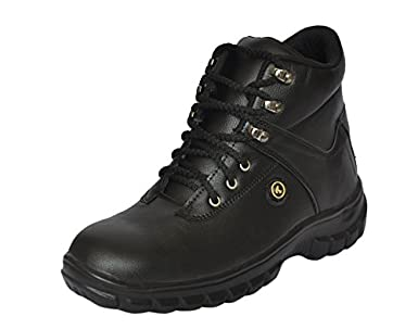 b9363c73f31a Fashion Tree Men s Black Timberwood Steel Toe Safety Shoes (7)  Amazon.in   Amazon.in