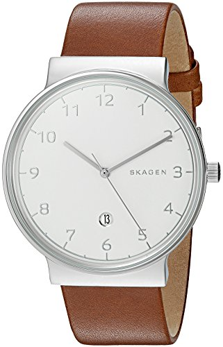 Skagen Men's SKW6292 Ancher Dark Brown Leather Watch