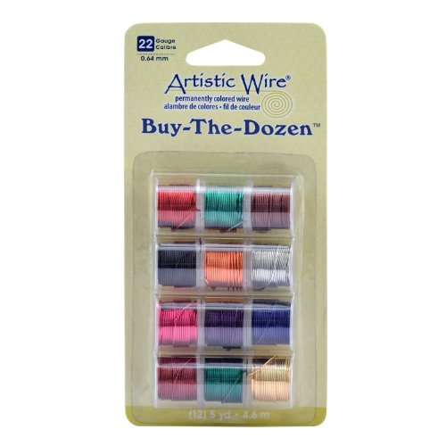 Artistic Wire 22-Gauge Buy-The-Dozen - Wire Colored Permanent Copper