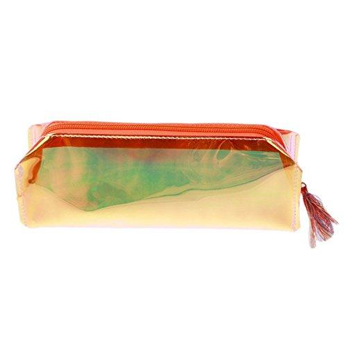 VWH Laser Federmäppchen Tasche für Mädchen Jungen Kind Schüler Schule Bürobedarf Orange