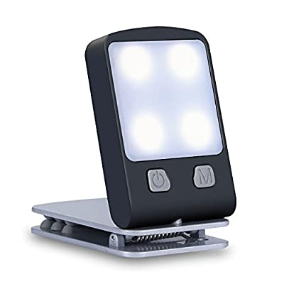 Rechargeable Book Light, Portable Clip on Book Reading Lights with Warm Mighty Bright for Reading in Bed at Night, Used for Book, Kindle, Tablet, Bedside, Table, Desk, Tent, Travel and Kids