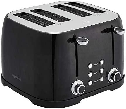 Amazon Basics 4-Slot Toaster, Black
