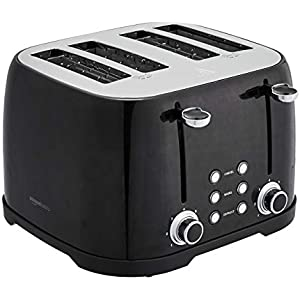 AmazonBasics 4-Slot Toaster, Black