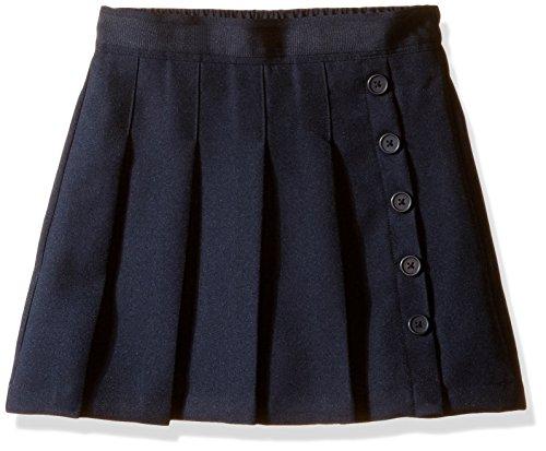 (Nautica Girls' Big School Uniform Pleated Scooter, Navy, 8)