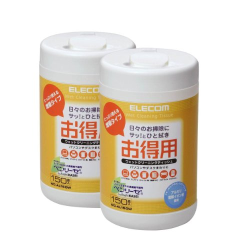 150 sheets ELECOM economical cleaning tissue (Set of 2) WC-AL150W