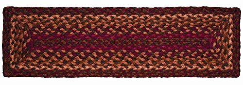 IHF Home Decor Cinnamon Jute Braided Stair Tread Rectangle Rug 8 x 28 Inch from IHF Home Decor
