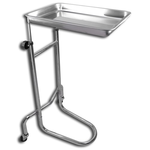 Mayo Instrument Stand with Removable Tray Double Post (Double Stand Post)