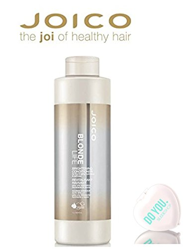 Joico Blonde Life Brightening Conditioner 33.8 oz Large Liter Size / 1000ml (with Sleek Compact Mirror)