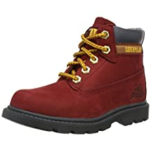 Caterpillar boys Caterpillar Boys Colorado Leather Boots Red Leather