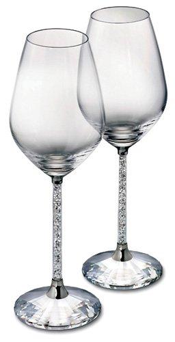 Swarovski Crystalline Red Wine Glasses, Set of 2