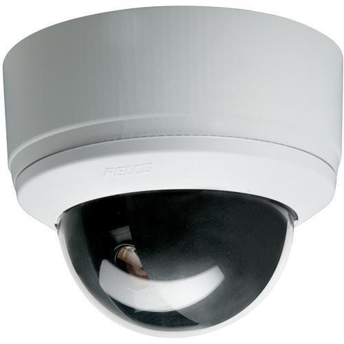 Pelco SD4-W0 Spectra Mini Indoor Dome System Camera, 470TVL, NTSC, Smoked Bubble, White