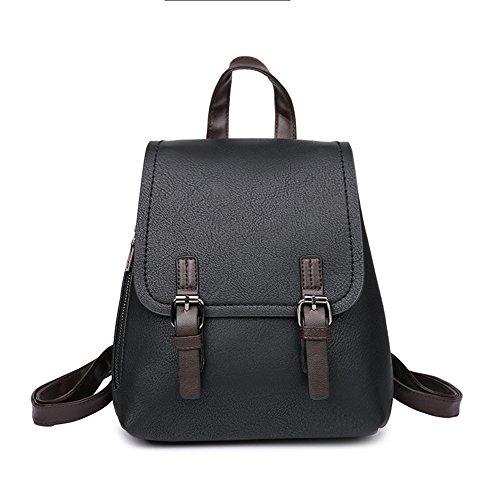 Meaeo Bolso De Estudiante Mochila Mochila Pequeña Bolsa De Viaje Moda Rojo Black