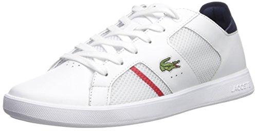Lacoste Men's Novas Sneaker, White Navy, 10.5 M US