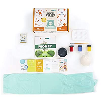 Fat Brain Toys Surprise Ride - Paint an Owl Bank Activity Kit Arts & Crafts for Ages 5 to 10: Toys & Games