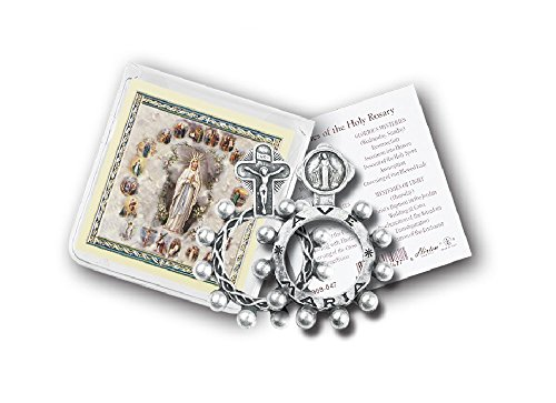 (Rosary Ring Mary Miraculous Medal with Gold Stamped Prayer Card)