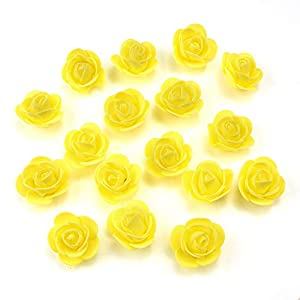 Mini PE Foam Rose Flower Head Artificial Rose Flowers Handmade DIY Wedding Home Decoration Festive & Party Supplies 115
