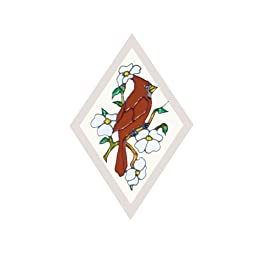 Cardinal Painted/Stained Glass Suncatcher F-526