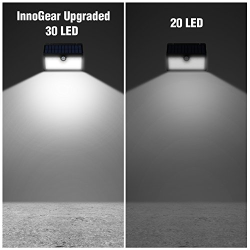 Innogear solar lights 30 led wall light outdoor security lighting innogear solar lights 30 led wall light outdoor security lighting nightlight with motion sensor detector for garden back door step stair fence deck yard mozeypictures Choice Image