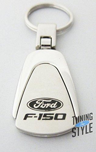 FORD Logo Tear Drop Authentic Chrome Key Fob Keyring Keychain Tag Lanyard