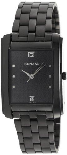 Sonata Analog Black Dial Men's Watch - 7953NM01J -