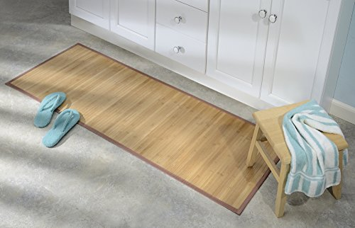 MDesign Water-Resistant Bamboo Floor Mat For Bathroom