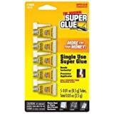 1 Pack of 5 Single Use Super Glue