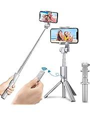 Mpow iSnap Pro X-Palo Selfie Bluetooth Extensible Remoto Portátil Universal para Selfie con Obturador Integrado y Correa para iPhone XS MAX/X /8/7/6 Galaxy S10 S9 S8, Smartphone Android, Negro