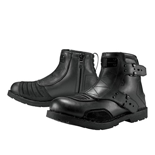 Icon 1000 El Bajo Men's Leather Street Motorcycle Boots - Oiled Brown / Size 9