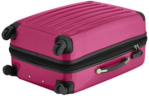 HAUPTSTADTKOFFER - Alex - 2er Koffer-Set Hartschale glänzend, 65 cm + 55 cm, 74 Liter + 42 Liter, Graphit-Blau Cyanblau-magenta