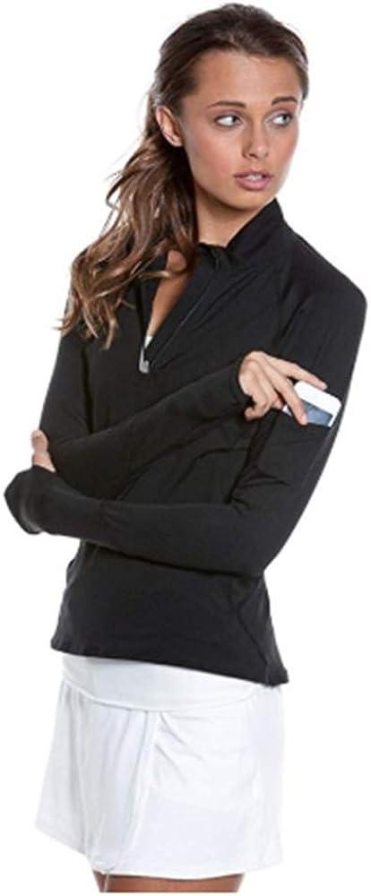 BloqUV Womens Mock Zip Top