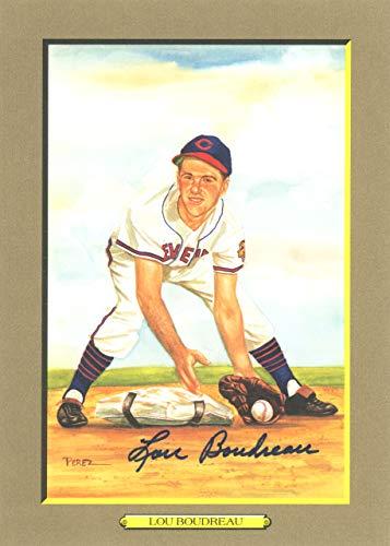 (Lou Boudreau Autographed Perez-Steele Great Moments Postcard #63 Cleveland Indians Beckett BAS #E46613)