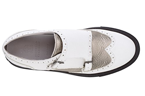 Scarpe In Pelle Da Donna Brunello Cucinelli Bianco 37
