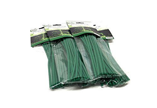 100 Twist - Set of 100 Plant Twist Tie - Flexible Green Rubber Coated Garden Training Wire (100)