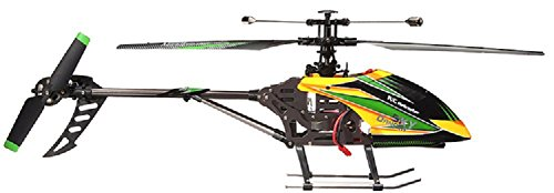 (NiGHT LiONS TECH WL Large V912 4CH Single Blade Remote Control RC Helicopter With Gyro RTF For Outdoor Flying (yellow))