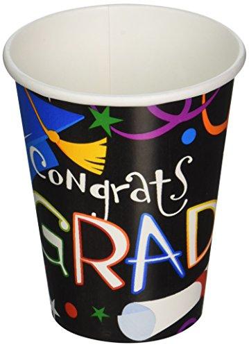 Grad Celebration Graduation Paper Cups, 9 oz. - 36 ct