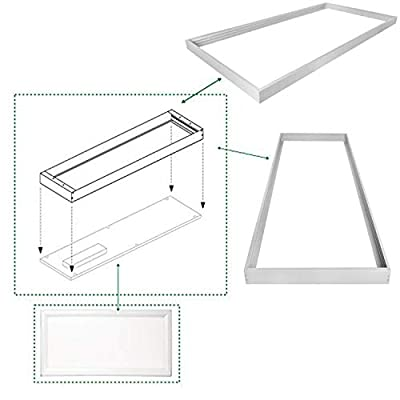 Hykolity Surface Mount Kit for 2x4 FT LED Troffer Flat Panel Drop Ceiling Light - 2 Pack