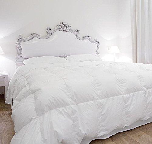 Supremium Baffle Box Medium Weight Hungarian Goose Down Comforter Level 3 White / Oversized King (Comforter Down Level)