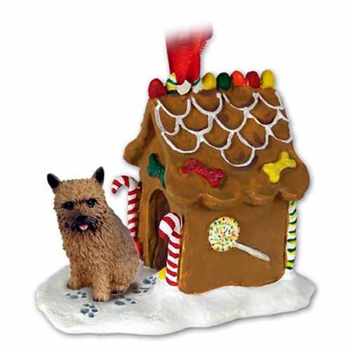 Norwich Terrier Gingerbread House Christmas Ornament - DELIGHTFUL!