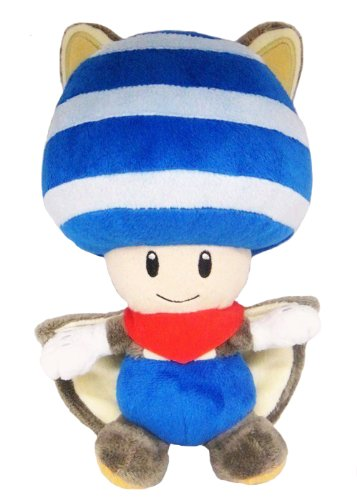 Little Buddy Toys Nintendo Flying Squirrel Toad 8 Plush, Blue ()