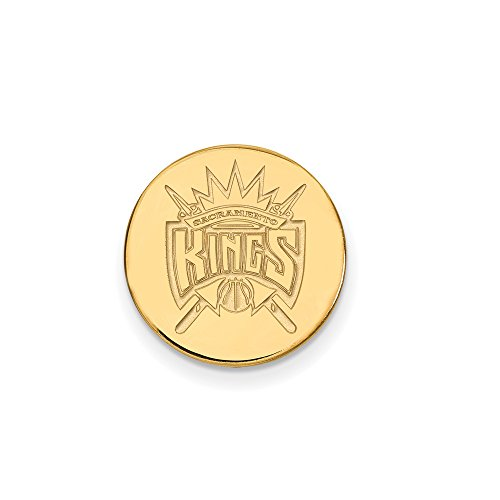 NBA Sacramento Kings Lapel Pin in 14K Yellow Gold by LogoArt