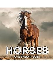 Horses Calendar 2022: 16-Month Calendar, Cute Gift Idea For Horse Lovers, Women & Men