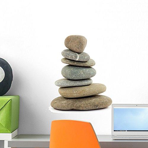 Wallmonkeys Zen Spa Stones Studio Wall Decal Peel and Stick Graphic WM140662 (18 in W x 17 in H) by Wallmonkeys