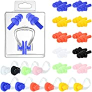 Jupswan Ear Plugs and Swimming Nose Clip Plugs Set for K-I-D-S Adults Waterproof Swim Swimmer Nose Pincher Ear