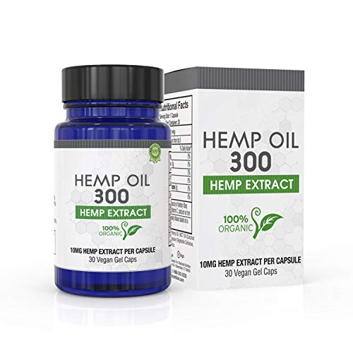 Capsules Mg 10 300 (Hemp Oil Capsules for Pain and Anxiety:Sleep:Inflammation:Mood:Stress and More-Potent Pure Hemp Seed Extract Full Spectrum:Rich in MCT-Omega 3,6,9: Made and Grown in USA)